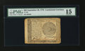 Colonial Notes:Continental Congress Issues, Continental Currency September 26, 1778 $60 PMG Choice Fine 15....