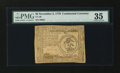 Colonial Notes:Continental Congress Issues, Continental Currency November 2, 1776 $3 PMG Choice Very Fine35....