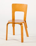 Furniture : Continental, ALVAR AALTO. A Laminated Birch Chair, model no. 65, circa1933-1935. 31 x 14-3/4 inches (78.7 x 37.5 cm). ...