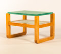 Furniture : French, A FRENCH SYCAMORE AND GLASS SIDE TABLE. Circa 1930. 16 x 24 x 16inches (40.6 x 61.0 x 40.6 cm). ...