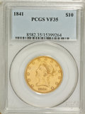 Liberty Eagles: , 1841 $10 VF35 PCGS. PCGS Population (11/109). NGC Census: (5/159).Mintage: 63,131. Numismedia Wsl. Price for problem free ...
