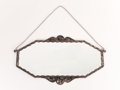 Furniture : French, NIC FRERES. A Wrought Iron Mirror, circa 1925. 26 x 47 inches (66.0x 119.4 cm). ...