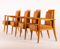 Furniture : French, Attributed to MAXIME OLD. A Set of Four Horsehair-UpholsteredCherry Armchairs, circa 1935-1940. 33-1/2 x 21-1/2 x 22-1/2 in...(Total: 4 Items)