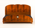 Furniture : French, SUE ET MARE. An Inlaid Rosewood and Walnut Bed, circa 1920-1925. 52 x 84 x 82 inches (132.1 x 213.4 x 208.3 cm). ...