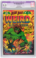 Golden Age (1938-1955):Horror, Blue Bolt #112 (Star Publications, 1952) CGC Apparent VF 8.0 Slight(P) Off-white pages....