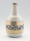 Ceramics & Porcelain, Continental:Modern  (1900 1949)  , JEAN LUCE. A Stoneware Vase with black and gold enamel decoration, circa 1930. 10-1/2 inches (26.7 cm) high. ...