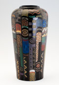 Art Glass:Other , A SECESSIONIST CERAMIC VASE. Circa 1915-1920. 12 inches (30.5 cm)high. ...