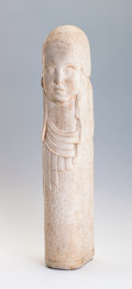 Sculpture, BERNARD CALLIE. A White Stone Figure of a Young Woman, 1928. Marks: signed and dated on base. 21 inches (53.3 cm) high. ...