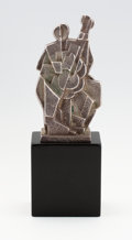 """JAN AND JOEL MARTEL """"Jazz Musician"""" A Patinated Bronze Figure, circa 1928 Marks: bearing stamp 12-1/2 inches..."""