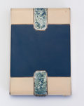 Silver Smalls:Cigarette Cases, TIRBOUR. A Silver, Lapis Lazuli, and Blue-Lacquered Cigarette Case,circa 1925-1930. Marks: bearing poincons of the artist. ...