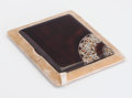 Decorative Arts, French:Other , A TORTOISESHELL, LACQUER, AND COQ D'OEUF CIGARETTE CASE . Circa1925. Marks: bearing poincon of the artist, inscribedMade...