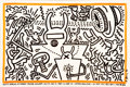 Fine Art - Work on Paper:Print, KEITH HARING. Keith Haring Robert Fraser Gallery October19-November 12, 1983, 1983. Lithographed poster . Signed. 27 x...