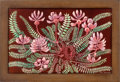 "Decorative Arts, French:Other , JEAN DUNAND. ""Fougeres et Fleurs"" An Engraved Lacquered Panel,circa 1925. Marks: signed. 17-1/2 x 12 inches (44.5 x 30.5 cm..."
