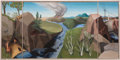 "Fine Art - Painting, European:Modern  (1900 1949)  , ALICE DINNEEN AND ALLAN GOULD. A Triptych depicting the further encroachment of ""civilization"" on the American wilderness, c..."