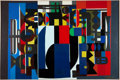 Fine Art - Painting, European:Contemporary   (1950 to present)  , AUGUSTE HARZIC. Organique, January 1968. Oil on canvas.Signed, titled, and dated. 48 x 84 inches (121.9 x 213.4 cm). ...