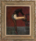 Paintings, PAUL COLIN. Danseuse aux Bas Resille, circa 1930. Oil on canvas . Signed lower right. 22 x 18-1/4 inches (56.0 x 46.5 cm... (Total: 1 Item Items)