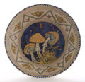 Ceramics & Porcelain, Continental:Modern  (1900 1949)  , CHRIS LANOOY. Three Earthenware Anniversary Mushroom Wall Plates, 1925. Marks: painted marks C.J. Lanooy, CLBR withi...