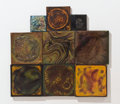 Art Glass:Tiffany , PROPERTY FROM A FLORIDA COLLECTION. TIFFANY STUDIOS. An AssembledGroup of Nine Favrile Glass Tiles, circa 1900. Marks: fo... (Total:9 Items)