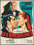 "Movie Posters:Hitchcock, Notorious (Columbia, R-1954). French Affiche (23.5"" X 31.5"").Hitchcock.. ..."