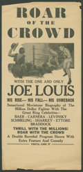"Movie Posters:Sports, Roar of the Crowd (Norman, 1953). Herald (6"" X 12.25""). Sports.. ..."