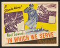 "Movie Posters:War, In Which We Serve (United Artists, 1942). Title Lobby Card (11"" X14""). War.. ..."
