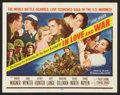 "Movie Posters:War, War Lot (Various, 1943-1958). Title Lobby Card and Lobby Cards (2)(11"" X 14""). War.. ... (Total: 3 Items)"