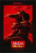 "Movie Posters:Animated, Mulan (Buena Vista, 1998). One Sheet (27"" X 40"") SS Advance.Animated.. ..."