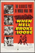"""Movie Posters:War, When Hell Broke Loose (Paramount, 1958). One Sheet (27"""" X 41"""").War.. ..."""