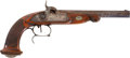 Military & Patriotic:Pre-Civil War, Fine Quality French/ Belgian .52 Caliber Smooth Bore Percussion Dueling Pistol, Circa 1840....