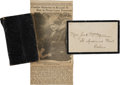 Autographs:Military Figures, Diary of Union Private Octave Bruso of the 50th New York Engineers....
