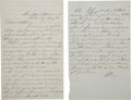 Autographs:Military Figures, Union Officer's Letter by Lieut. Jacob Winans of the 38th Pennsylvania Infantry. ...