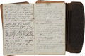 """Autographs:Military Figures, Union Soldier's 1863 Diary of Principle Musician Richard Dilley Company """"G"""", 62nd Ohio Infantry Regiment, with a War-dated Let..."""