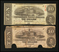 Confederate Notes:1863 Issues, T59 $10 1863. Two Examples.. ... (Total: 2 notes)