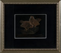 Art Glass:Lalique, R. LALIQUE. A Rare Celluloid Invitation Plaque with sepia patina,mid 1920s. Inscribed: INVITATION POUR VISITER L'EXPOSITI...