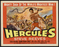 "Movie Posters:Adventure, Hercules (Warner Brothers, 1959). Half Sheet (22"" X 28"") Style B.Adventure.. ..."