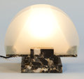 Decorative Arts, French:Lamps & Lighting, GABRIEL GUEVREKIAN. A Glass and Marble Lamp, circa 1930. 8-1/2 x10-1/4 x 5-1/2 inches (21.6 x 26.0 x 14.0 cm). ...