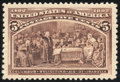 Stamps, 5c Chocolate (234),...
