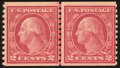 Stamps, 2c Carmine, Type II, Horizontal Coil (491),...
