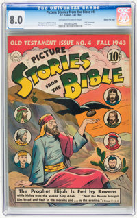 Picture Stories from the Bible #4 Gaines File pedigree 12/12 (DC, 1943) CGC VF 8.0 Off-white to white pages