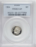 Proof Roosevelt Dimes: , 1964 10C PR68 Deep Cameo PCGS. PCGS Population (304/260). NGCCensus: (270/140). Numismedia Wsl. Price for NGC/PCGS coin i...