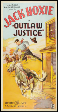 """Outlaw Justice (Majestic Pictures, 1932). Three Sheet (41"""" X 81""""). Western"""