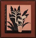 Asian:Japanese, A JAPANESE LACQUER PICTURE. Circa 1925-1930. Marks: signed. 2-1/8 x2 inches (5.4 x 5.1 cm). ...