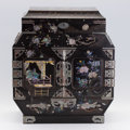 Asian:Japanese, A JAPANESE NAGASAKI LACQUER CABINET. Edo Period, 19th Century. 20 x17-3/4 x 9 inches (50.8 x 45.1 x 22.9 cm). ...
