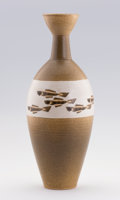 Asian:Japanese, MIMURA TAKEHIKO. A Japanese Ceramic Vase with original box. Marks:signed Take. 17-1/2 inches (44.5 cm) high. ...