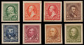Stamps, 1c-15c Color Changes, Panama-Pacific Small Die Proofs (279P2a-284P2a),...