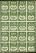 Stamps, 1942-54, 80c-$200 Wine Stamps (RE142//202),... (Total: 1 Misc)