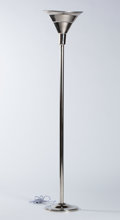 """Decorative Arts, French:Lamps & Lighting, FELIX AUBLET. A Nickel Plated Metal """"Lampe de Parquet"""", circa 1930.70 inches (177.8 cm) high. ..."""