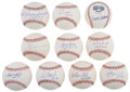 Autographs:Baseballs, Hall of Famers Signed Baseball Group Lot of 10.... (Total: 10items)