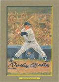 Autographs:Post Cards, Mickey Mantle Signed Perez-Steele Great Moments Card....