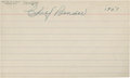 Autographs:Index Cards, 1951 Chief Bender Signed Index Card....